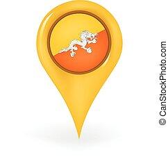 Location Bhutan - Map pin showing Bhutan.