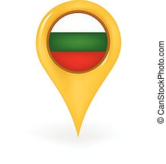 Location Bulgaria - Map pin showing Bulgaria