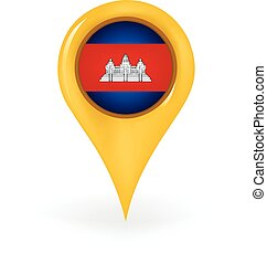 Location Cambodia - Map pin showing Cambodia.