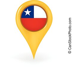 Location Chile - Map pin showing Chile.