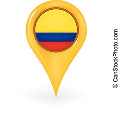 Location Colombia - Map pin showing Colombia