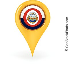 Location Costa Rica - Map pin showing Costa Rica