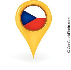 Location Czech Republic - Map pin showing the Czech Republic...