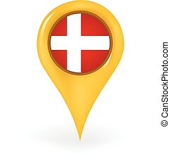 Location Denmark - Map pin showing Denmark