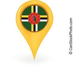 Location Dominica - Map pin showing Dominica.
