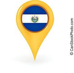 Location El Salvador - Map pin showing El Salvador