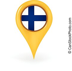 Location Finland - Map pin showing Finland