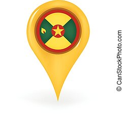 Location Grenada - Map pin showing Grenada