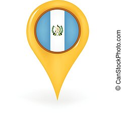 Location Guatemala - Map pin showing Guatemala.