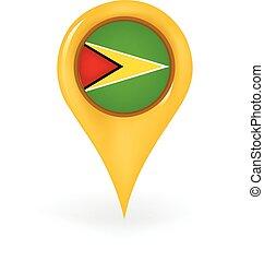Location Guyana - Map pin showing Guyana