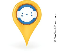 Location Honduras - Map pin showing Honduras