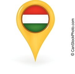 Location Hungary - Map pin showing Hungary.