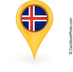 Location Iceland - Map pin showing Iceland