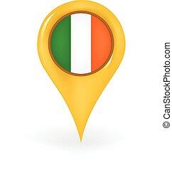 Location Ireland - Map pin showing Ireland