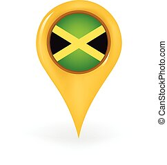Location Jamaica - Map pin showing Jamaica