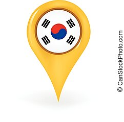 Location South Korea - Map pin showing South Korea