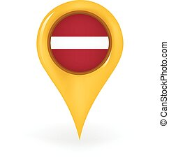 Location Latvia - Map pin showing Latvia