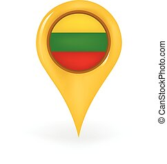 Location Lithuania - Map pin showing Lithuania.