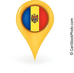 Location Moldova - Map pin showing Moldova.