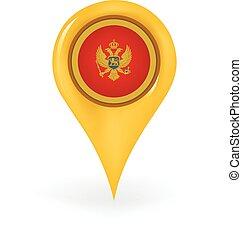Location Montenegro - Map pin showing Montenegro