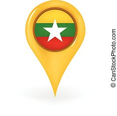 Location Myanmar - Map pin showing Myanmar