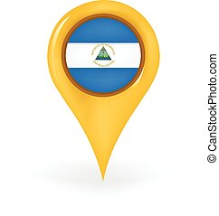 Location Nicaragua - Map pin showing Nicaragua.