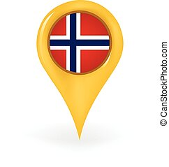 Location Norway - Map pin showing Norway