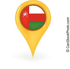 Location Oman - Map pin showing Oman.