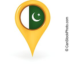 Location Pakistan - Map pin showing Pakistan
