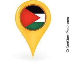 Location Palestine - Map pin showing Palestine.