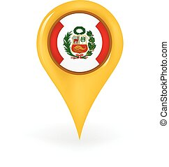 Location Peru - Map pin showing Peru