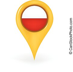 Location Poland - Map pin showing Poland