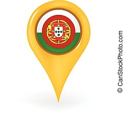 Location Portugal - Map pin showing Portugal