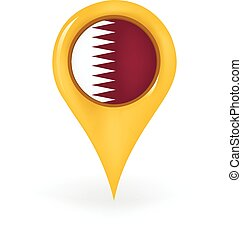 Location Qatar - Map pin showing Qatar.