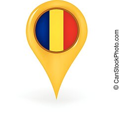 Location Romania - Map pin showing Romania