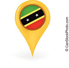 Location Saint Kitts And Nevis - Map pin showing Saint Kitts...