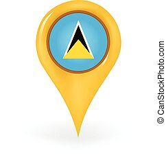 Location Saint Lucia - Map pin showing Saint Lucia.