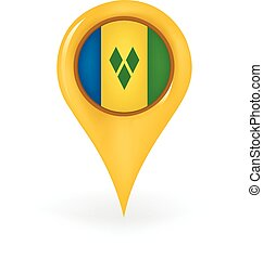 Location Saint Vincent Grenadines - Map pin showing Saint...