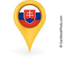 Location Slovakia - Map pin showing Slovakia