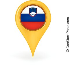 Location Slovenia - Map pin showing Slovenia.