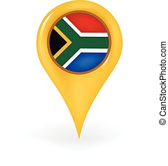 Location South Africa - Map pin showing South Africa