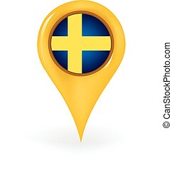Location Sweden - Map pin showing Sweden