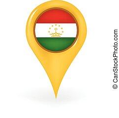 Location Tajikistan - Map pin showing Tajikistan.