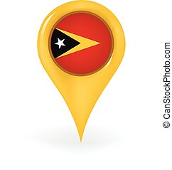Location East Timor - Map pin showing East Timor