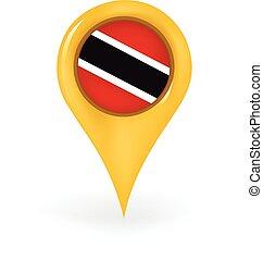 Location Trinidad And Tobago - Map pin showing Trinidad and...