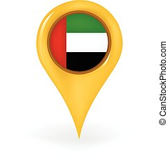 Location United Arab Emirates - Map pin showing the United...