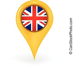 Location United Kingdom - Map pin showing the United Kingdom...
