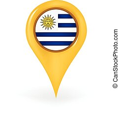 Location Uruguay - Map pin showing Uruguay