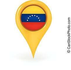Location Venezuela - Map pin showing Venezuela