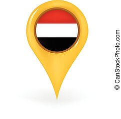 Location Yemen - Map pin showing Yemen.